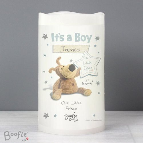 Boofle It's a Boy Nightlight LED Candle